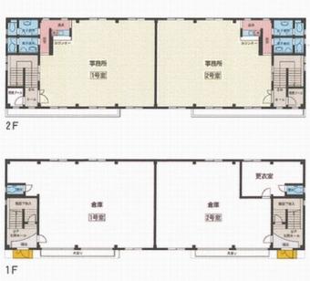 画像1:オフィスパレア乙金 B棟,倉庫(事務所付),大野城市乙金46