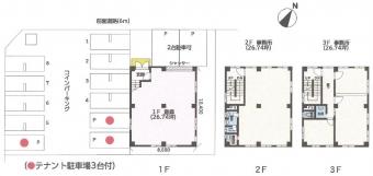 画像1:KJMビル,倉庫(事務所付), 事務所,福岡市博多区山王1丁目13番3号